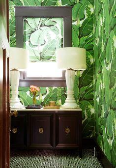 Designer Annie Downing uses bold pattern in this fun bathroom redo | archdigest.com