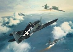 The Marianas Turkey Shoot, by Roy Grinnell (Grumman F6F Hellcat vs Yokosuka D4Y Suisei 'Judy')