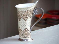Ceramic Mug Tea MugHandbuilding Ceramics and by StudioRosalina #coffeecups