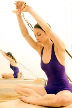 Pilates exercise Reformer #fitness #health #game #jeu #sport #oxylanevillage #workout #aerobic #pilates