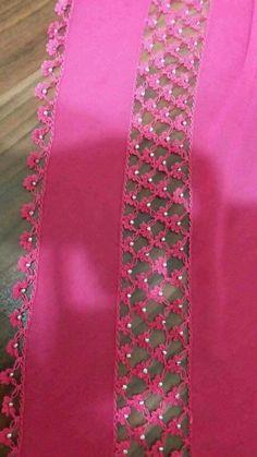 Crochet Borders, Crochet Motif, Crochet Designs, Crochet Flowers, Baby Knitting Patterns, Crochet Patterns, Crochet Stone, Saree Kuchu Designs, Hand Embroidery Videos