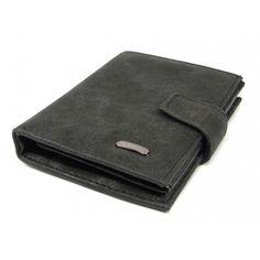 Černá kožená pánská peněženka - peněženky AHAL Card Case, Wallet, Pocket Wallet, Diy Wallet, Purses