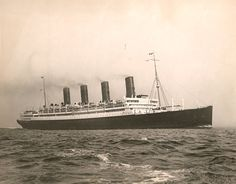 Cunard Line AQUITANIA by Edwin Levick 1920s