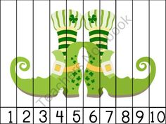 Happy St. Patricks Day Number Puzzles product from Playful Learning Brooklyn on TeachersNotebook.com