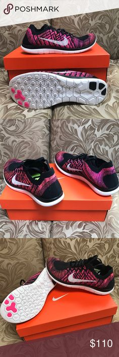 ***MAKE AN OFFER*** Nike WMNS Free 4.0 Flyknit - Brand: Nike - Style: Nike WMNS Free 4.0 Flyknit  - Condition: Brand New In Original Box - Style Code: 717076-006 - Size: Various Sizes  - Color: Black / Pink  - Please Purchase With Confidence! - All shoes
