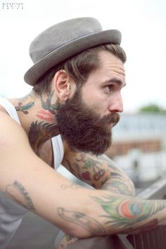 It's apparently super dangerous for me to look up beards + tattoos on pinterest. I think I just turned this site into a dirty mag for myself.