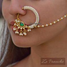 Nosering – Page 3 – zepanache Indian Jewelry Earrings, Indian Wedding Jewelry, Bridal Jewellery, Gold Jewellery, Nath Nose Ring, Nose Rings, Female Fashion, Lipsticks, Fashion Pants