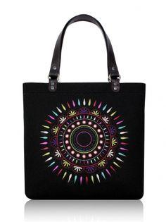 Plstěná vyšívaná taska na rameno SOL Big Tote Bags, Satchel, Crossbody Bag, Puma, Handmade Bags, Leather Handle, Laptop Bag, Shoulder Bag, Felting