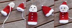 Das benötigt ihr für die Weihnachtsmann-Fingerpuppe: rote, weiße und beige oder gesichtsrosa Wolle, Stricknadelspiel (es reichen 4 Nadeln) Nr. 3 ½. Holznade