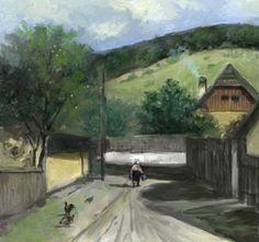 peisaj rural 1. Tablou de Emanuel Tancau
