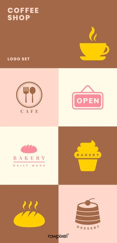 Download these amazing royalty-free coffee shop logo illustrations as well as images, mockups, psd and vectors at rawpixel.com Coffee Shop Logo, Coffee Life, Best Banner, Photo Logo, Creative Things, Amazing, Awesome, Creative Design, Design Projects
