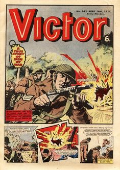 """Reproduction """"Victor - Comic"""" Poster, Home Wall Art Comic Poster, All Poster, Comic Art, Comic Books, Ww2 Posters, Man Of War, War Comics, Books For Boys, Book Format"""