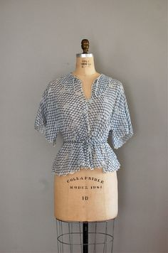 1930s Singing Polka Dots blouse from DearGoldenVintage $88