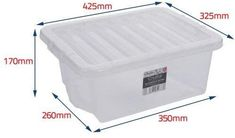 16 Litre Clear Strong Plastic Storage Boxes With Lids Stackable Storage Boxes With Lids, Plastic Box Storage, Storage Containers, Diy Tools, Packing, Laundry, Strong, Ebay, Bedroom