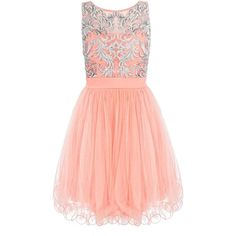 Coral Mesh Sequin Embellished Prom Dress ❤ liked on Polyvore featuring dresses, vestidos, cocktail prom dress, red sequin cocktail dress, coral cocktail dress, sequin mesh dress and sequin embellished dress