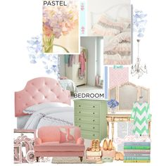 A Sweet Pastel Bedroom Pastel Bedroom, Colour Trends, Room Themes, Vintage Pink, Pastels, Cribs, Toddler Bed, Interior Decorating, Sweet Home