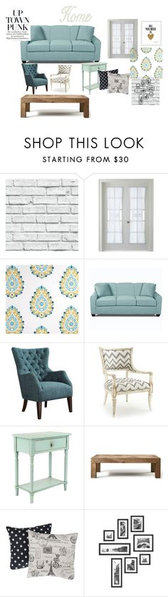 """""""Up Town Punk-Country"""" by buddygulate on Polyvore featuring interior, interiors, interior design, home, home decor, interior decorating, Martha Stewart, Squarefeathers, Flamant and M&Co"""