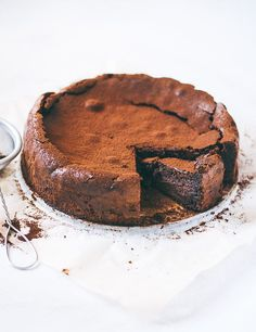 The ultimate fudgy chocolate almond torte.