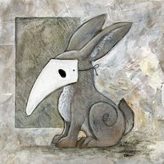 """rabbit mask 2"" 