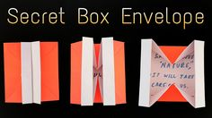 """How to make a  """"Secret Box Envelope ✉ """" using A4 paper- Useful Origami t..."""