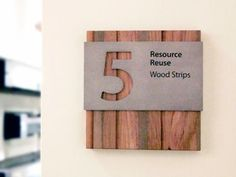 Recycled Materials - Wood Signage http://www.casaustin.com/projects/HomeAway/images/13_Homeaway_Interior_Sign_Wall_Sign_Hanging_Sign_LEED_Recycled_Materials_Acrylic_Digital_P...: