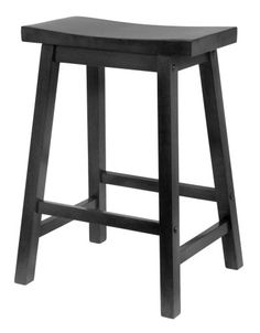 Winsome Wood 24-Inch Saddle Seat Counter Stool, Black - http://yapiver.com/chair/winsome-wood-24-inch-saddle-seat-counter-stool-black/