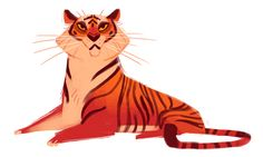 328: Tiger Lady Quick sketch for tonight! Very similar to one I did a while back, but I still like it