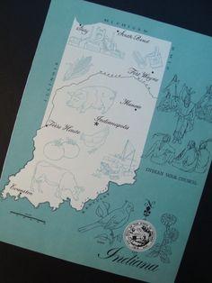 Vintage Indiana Map $10.99 - good find!