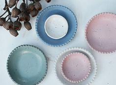 Scalloped Bowl Set - Ceramic Bowl Set - Pottery Bowls - Bowls