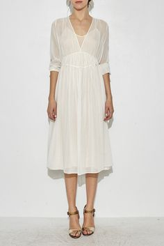 White Voile Dress