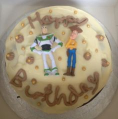 To infinity and beyond. Toy Story-themed birthday cake