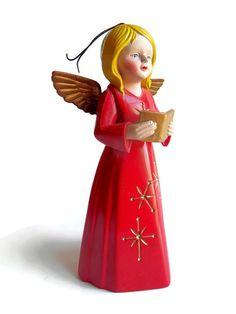 Vintage Christmas Tree Guardian Angel 1977 Fire Alert by YellowMod