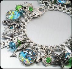 Ocean+Jewelry+Sea+Bracelet+Nautical+Jewelry+by+BlackberryDesigns,+$123.00