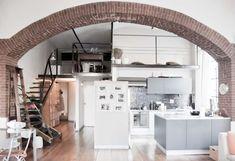 Arco taverna finto mattone: arco realizzato con finti mattoni per ...