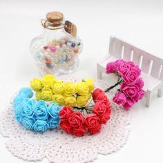 12 шт./лот 2.5 см валентина подарок мини искусственный пена розы букет искусственные цветы для свадьбы автомобиль украшение дома -
