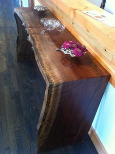 diy waterfall wood table - Google Search