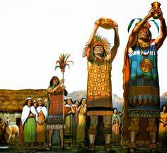 La chicha se utilizaba en los rituales ceremoniales como bebida excluyente, seguramente porque su color amarillento era asociado al del Sol. Servida en jarros y vasijas decoradas, el propio Inca la ofrecía para ser consumida por los sacerdotes y miembros de la familia real. Asian History, Art History, Maya Design, Inca Empire, Inka, Mexico Culture, Indigenous Tribes, Mesoamerican, Conquistador
