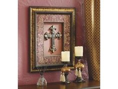Cross Picture and Candle Holders: Celebrating Home is the largest home interior company in the United States.  We sell everything from candles to food and beverage mixes.  My name is Lori
