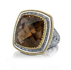 Sterling Silver and yellow gold smokey quartz ring Smoky Quartz Ring, Smoky Topaz, Topaz Ring, Semi Precious Gemstones, Diamond Engagement Rings, Sterling Silver Rings, Jewelery, Fine Jewelry, Gemstone Rings