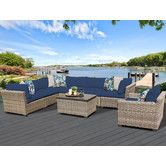 Found it at Wayfair - Monterey 8 Piece Sectional Seating Group with Cushion