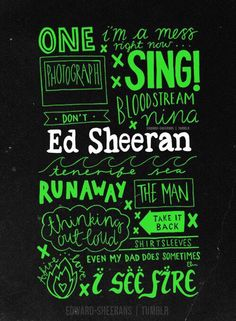 Ed Sheeran song titles from X (Multiply)