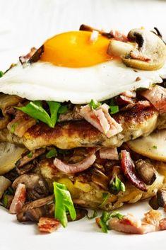 Hearty breakfast pancakes