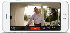 Answer the door from anywhere with your smartphone. very clear pictures. stay safe.