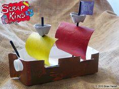 Paper Recycling Milk Cartons   Scrapkins ship2 Recycled Milk Carton Pirate Ship Plus Earth Week #recyclingmilkcartons