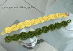 Scallop crochet bracelet