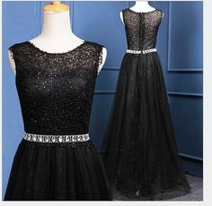 Black Prom Dresses,Lace Prom Dress,Sexy Prom Dress,A Line Prom Dresses,2016 Formal Gown,Lace Evening Gowns,Beaded Party Dress,Prom Gown For Teens