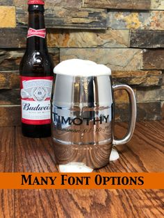 Custom Engraved Personalized Beer Mug Stainless Steel Double Wall Insulated Groomsmen Gift Gifts for Men Bar Ware Birthday Dad Custom Engraved Personalized Beer Mug Stainless Steel Double Wall Insulated Groomsmen Gift Gifts for Men Bar Ware Birthday Dad