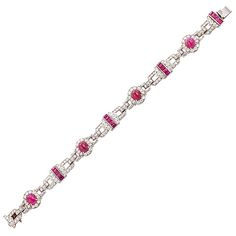 1stdibs - Art Deco Diamond & Ruby Platinum Bracelet explore items from 1,700  global dealers at 1stdibs.com