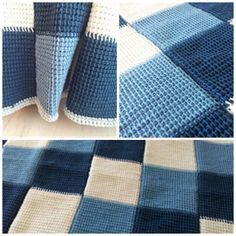Windsor Throw - Tunisian Crochet free pattern to print out More