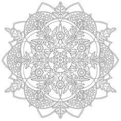 Mandala 737, Creative Haven Snowflake Mandalas Coloring Book, Dover Publications